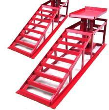 Pair Lifting Car Ramp Jack 2t 2 Heights Hydraulic Adjustable Car Maintenance Ram
