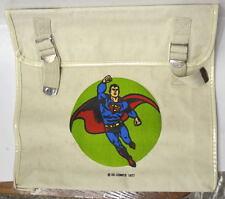 SUPERMAN CANVAS SHOULDER / LAP TOP BAG Rare DC 1977 UNUSED