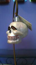 Old World Christmas Glitter Skull Halloween Ornament (2001) Owc - Retired