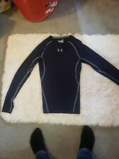 Under Armour Men's Blue Cold Gear Fitted Long Sleeve Athletic Shirt Size S.