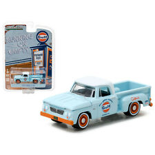 Greenlight 1963 Dodge D-100 Gulf Oil Pick Up Truck 1:64 Light Blue 41010B