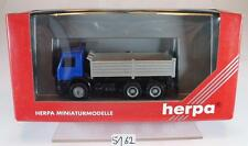 HERPA 1/87 scania 112m camion 3 essieux sandkipper sans étiquette emballage D'origine #5162