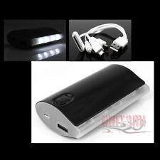 5200MAH EXTERNAL BACKUP BATTERY CHARGER MICRO USB BLACK IPHONE 5 4S 4 IPOD IPAD
