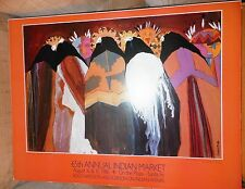 "Dolona Roberts1986 Indian Market Exhibition Poster   ""Feast Day"" Janus Gallery"