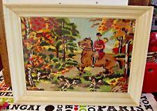 Strass cross stitch kit de bricolage mosaïque Chasse à Cour cheval Anglais 1940