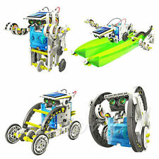 14-in-1 Educational Solar Robot Kit DIY Green Energy Science Toy Set for Kids