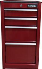 Halfords 4 Drawer Side Cabinet - Red Key Lock With Ball Bearing Drawer Sliders