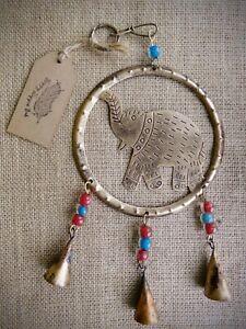 Elephant Bells, Fairtrade, WindChime, Metal Bells, Recycled, Boho, Hanging Bells
