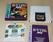 R- Type DX Nintendo Gameboy Color GBA  Pal Boxed manual Game Boy Colour
