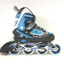 Weing Inline Skate verstellbare Kinder Inliner Skate blau Gr. 34-37 Abec 7 - LED