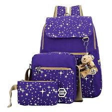 Girls' School Backpack  3 Piece Pattern Set Women's Bags & Accessories Bookbags