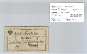 Deutsch-Ostafrikanische Africa German 1 Rupee 1.11.1915 N°43266 Pick 9a