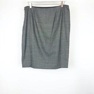 DANA BUCHMAN Women's Skirt Size 10 Gray Charcoal Wool Blend