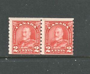 CANADA  COIL #181 2 CENT ARCH PAIR  MINT NH