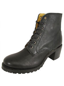 Frye Womens Sabrina 6G Lace Up Bootie Shoes, Black, US 11