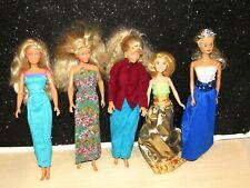 Lot of 5 Vintage Mattel/Hasbro Barbie Clone Dolls Blonde Hair Olson DRESSED