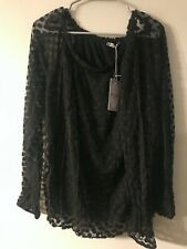 Elena Baldi womans blouse black Made in Italy size XL