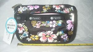 MIP Lesportsac Olina Travel Cosmetic Pouch Hawaii Boutique Exclusive NWT