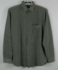 dd1e99ebc Topman Men's Button Down Long Sleeve Shirt-White/Black/Striped-Unknown Size