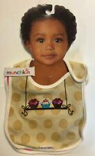 Munchkin Polka Dot Cotton Girl Baby Bib 2 Pack Choose: Cupcake or Dress Design