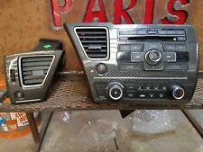 2013 HONDA CIVIC SI RADIO HEATER AC CONTROL W/ CARBON FIBER AND DRIVER DASH VENT