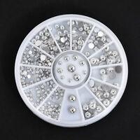 3D UV GEL Acrylic Nail Art Tips Stud DIY Decoration Glitter Rhinestones Wheel =p