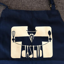 Vintage kangaroo brand apron by susan o'kane - Mustache Top Hat Chef - pockets