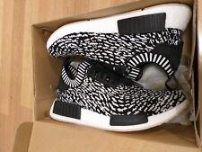 Adidas NMD R1 PK size 9 black sashiko zebra prime knit sneaker