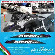 2 Adesivi Becco Parafango Moto BMW R 1200 gs adventure LC world map balck