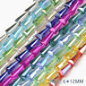 50pcs Tower Shape Crystal Beads Conical Loose Glass Bead 6*12mm Jewellery Making