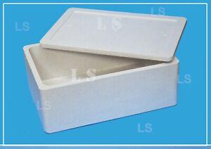 Scatola Termica Isolante Polistirolo 40LT cm60x40x24 Box per alimenti e bevande