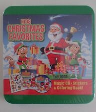 Kids Christmas Favorites - Music CD Stickers Crayons Coloring Book Brand New
