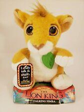 "Disney's The Lion King Talking Simba 1993 12"" Plush New in Box! Works! Vintage"