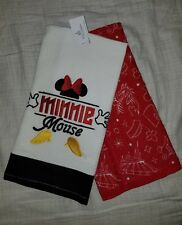 New Disney Parks Minnie Mouse Body Parts Kitchen Dish Towel Set of 2