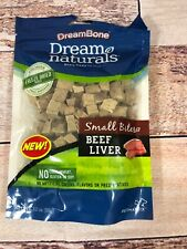 DreamBone Dream Naturals Small Bites Beef Liver 3 oz Package Exp 04/20