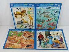 Puzzle Patch Bilingual Children's Picture Puzzles 25pc Educational Lot of 4