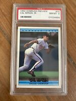 1992 Donruss Preview Cal Ripken Jr Baltimore Orioles #10 RARE Psa 8
