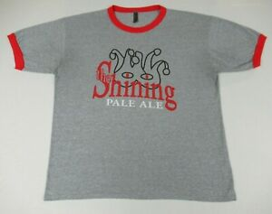 ESTES PARK BREWERY THE SHINING PALE ALE BEER - GRAY XXL 2XL RINGER T-SHIRT F1744