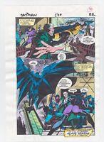 BATMAN #504 PAGE 22 ORIGINAL COMIC PRODUCTION ART COLOR GUIDE CODE FREE CATWOMAN