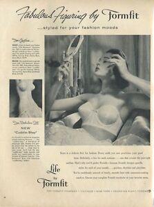 "1956 Formfit PRINT AD Womens Underwear Bra ""Cuddle-Stay""  Great Vintage Decor"