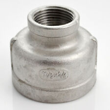 "1-1/2""x3/4""Female Nipple Threaded Reducer Pipe Fitting Stainless Steel 304 NPT"