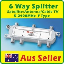 6 Way Splitter Satellite/Antenna/Cable TV  5-2400MHz F TYPE
