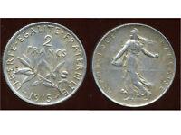 2 FRANCS  semeuse 1915  argent  ( bis )