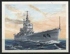 CHROMO BATEAU HMS VANGUARD TOM THUMB BRITAIN S