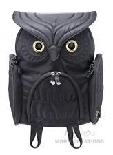 Owl MEDIUM BLACK 3D backpack MORN CREATIONS bag LADY kindergarten preschool hoot