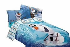 Disney Frozen Olaf Build a Snowman Microfiber Comforter Twin Full Ana Elsa Doll