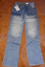 Hornee Jeans Blue Ice SA-M12 Motorcycle Size 32 With Freedom Unseen Designer Jea