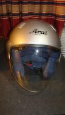 Arai Silver Dot Snell Size: Medium Motorcycle Helmet  w/ Shield