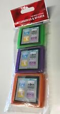iPod Nano 6th Gen Protective TPU Case's x 3 (Green/Purple/Orange)