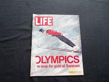 1972 FEBRUARY 18 LIFE MAGAZINE - JAPANESE OLYMPIC SKI JUMPER - L 1841